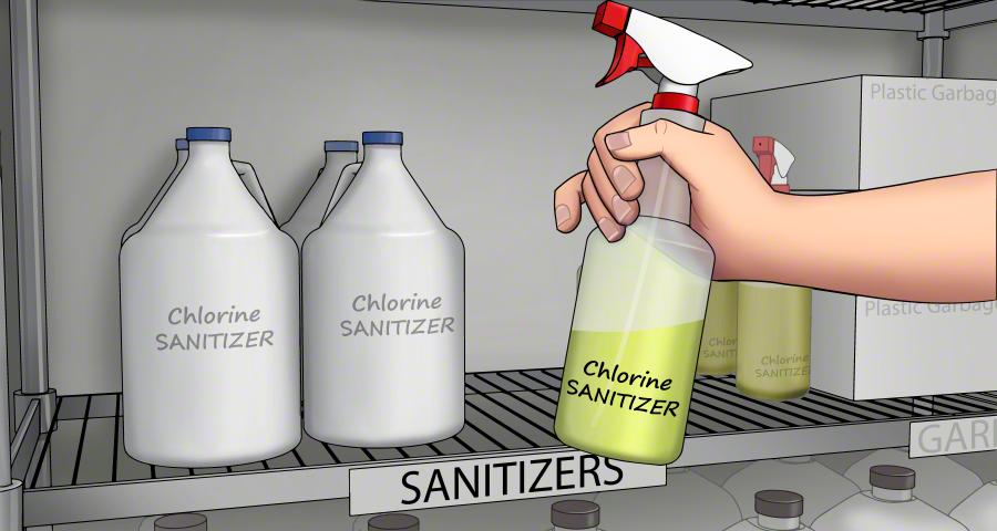 Contaminated milk