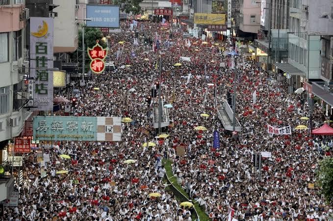 Hong Kong-biggest protests