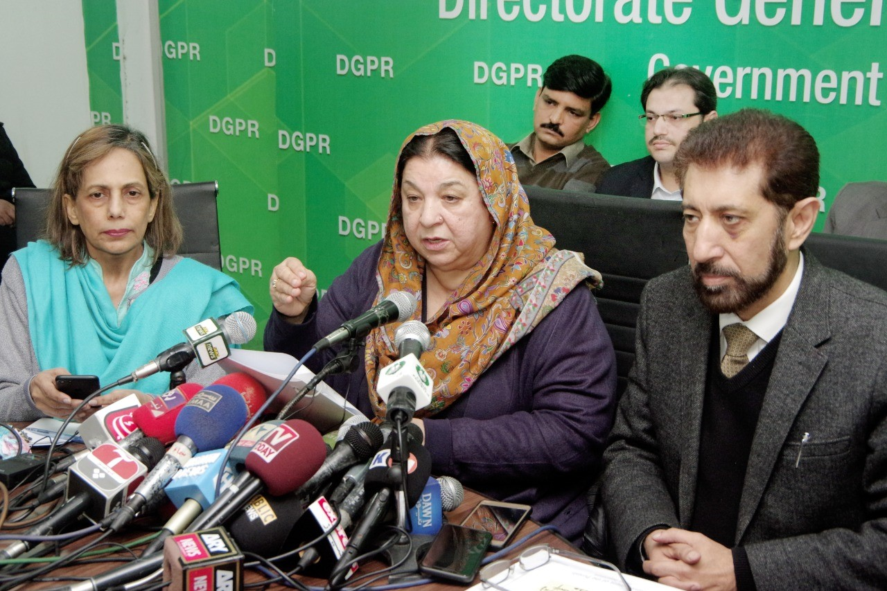 Dr Yasmeen-press conference