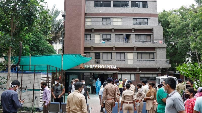Fire in Indian Hospital