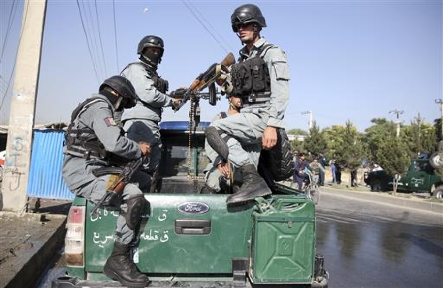 Afghan security personnel attack
