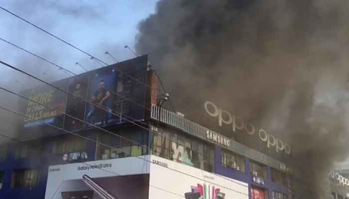 Hafeez Centre fire