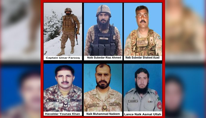 Soldiers martyred