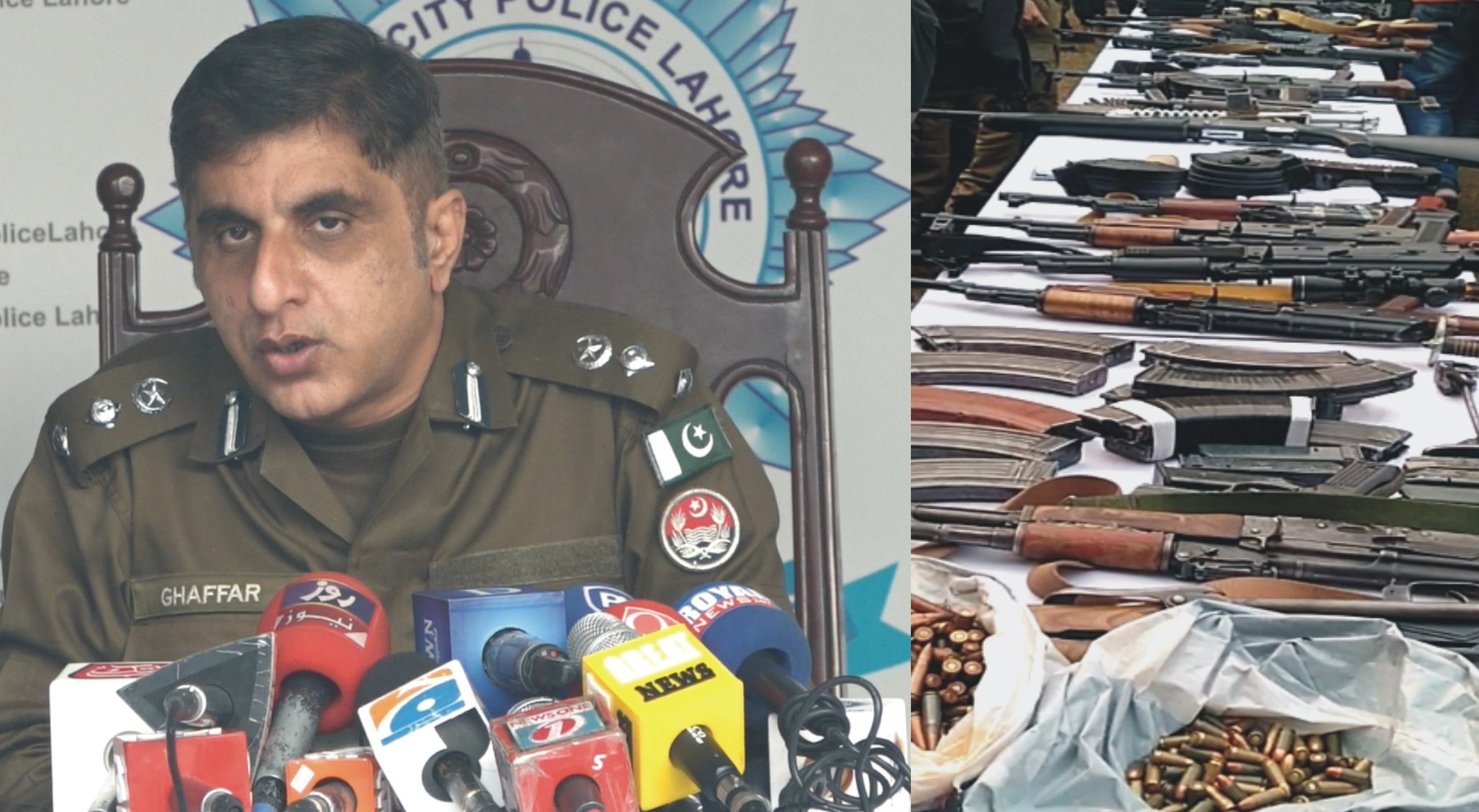 Lahore police-weapons